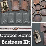 30 Pack Copper Photo Jewelry Pendant Variety Home Business Kit #2 Photo Jewelry
