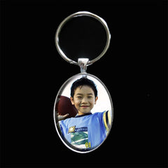 Instant Makes 10 Large Oval Photo KeyChains w/ Self Adhesive Covers Kit