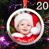 20 Pack Large 3 Inch Personalized Photo Christmas Ornaments Blanks