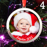 Make Your Own Photo Christmas Ornaments Kit 4 Large 3 Inch Ornaments