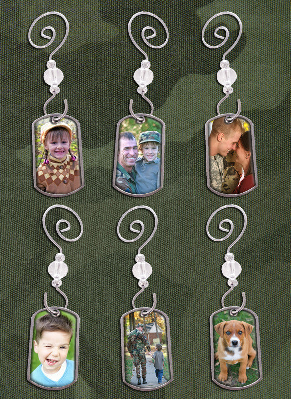 Dog Tags Holiday Photo Ornaments Kit - Photo Jewelry Making
