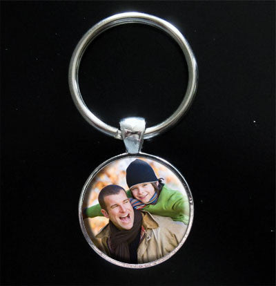 Instant Round Photo Keychain Kit Dads Gift Idea Photo Jewelry