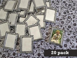 20 Pack Large Vintage Portrait Style Photo Jewelry Frames - Photo Jewelry Making