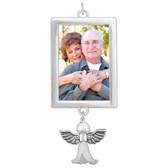 Bridal Wedding Bouquet Photo Charm w/ Guardian Angel