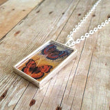 "Makes 10 Photo Necklace Kit With Rectangle Pendants and 24"" Link Chain"