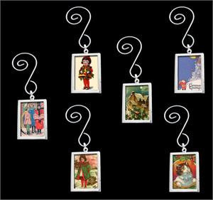 Photo Christmas Ornaments Kit  Double Sided Swirled Rectangle 12 Pack - Photo Jewelry Making