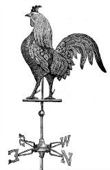 Free Vintage  Rooster Graphic to Download To Make Photo Jewelry - Photo Jewelry Making