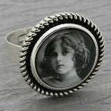 20 Round Silver Adjustable Photo Ring Bases 16mm Photo Area