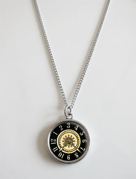 Double Sided Round Photo Necklace with Covers