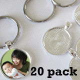 Round 1 Inch Photo Keychain Supplies Pack Makes 20