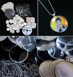 Instant Photo Jewelry Silver Glass Pendant Business Start-up Kit Makes 12 - Photo Jewelry Making