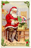 Free Vintage Christmas Santa Image To Download - Photo Jewelry Making