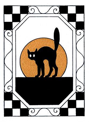 Free Vintage Halloween Cat Image - Photo Jewelry Making