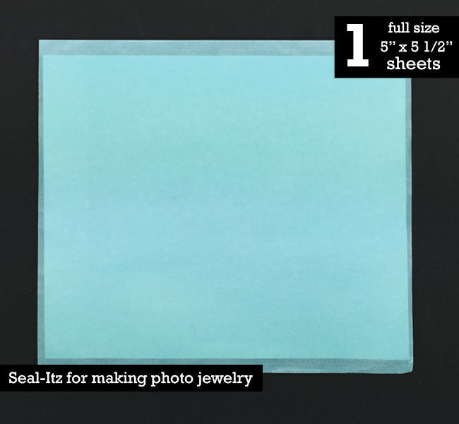 Instant Seal-Itz for Glass Photo Jewelry Making - 1 Full Size Sheet - Photo Jewelry Making