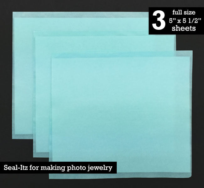 Instant Seal-Itz Strips for Glass Photo Jewelry Making - Pack Of 3 Full Size Sheets - Photo Jewelry Making