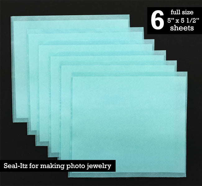 Instant Seal-Itz Strips for Glass Photo Jewelry Making - Pack Of 6 Full Size Sheets - Photo Jewelry Making