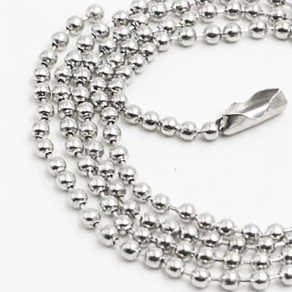 "Shiny Silver Ball Chain Necklaces 24"" - Choose Quantity"