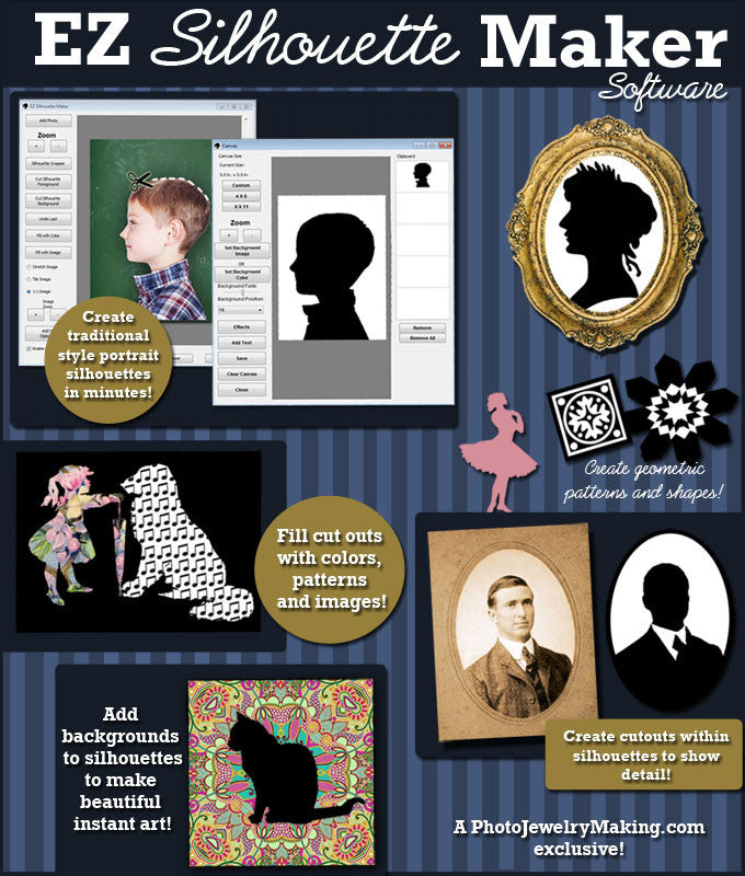 NEW EZ Silhouette Maker Software Download - Photo Jewelry Making