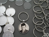 Round 30mm Silver Photo Keychain Supplies Pack Makes 20 - Photo Jewelry Making