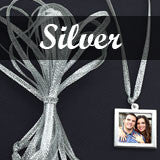 100 Pack Hand Tied Festive Silver Ribbon Christmas Decoration Ornament Hangers - Photo Jewelry Making