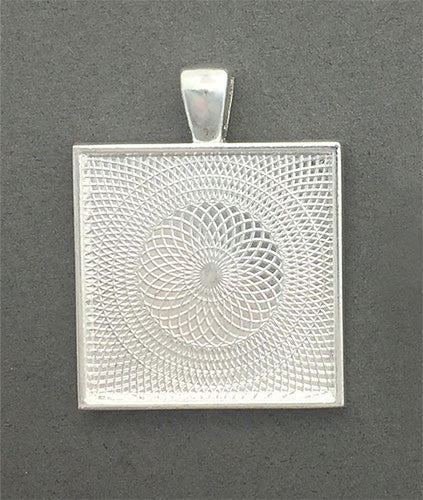 25 Pack Shallow Frame Silver Photo Jewelry Pendants