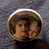 20mm Glass Dome Picture Ring 3/4 Inch Picture Area Photo Jewelry