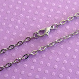 24 inch Soft Silver Necklace Link Chain w/ Lobster Clasp