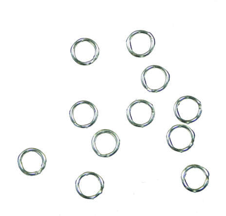 Split Rings Silver Plated 6mm For Charms (12)