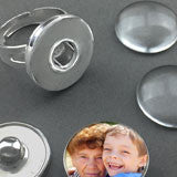 Snap In Photo Jewelry Ring Kit Changeable Photo Jewelry