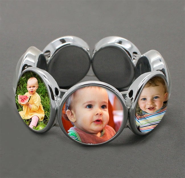 Instant Glass Stretch Photo Jewelry Bracelet Blank 1 Inch Photos - Photo Jewelry Making
