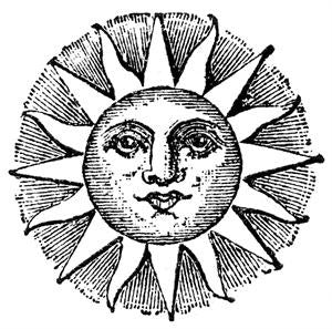 Free Vintage Sun Face Image To Download - Photo Jewelry Making