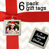 Makes 6 Silver Double Sided Photo Christmas Gift Tags Kit
