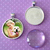 500 Pack of Photo Jewelry Silver Pendant Trays and Glass Domes 1 Inch