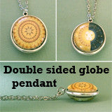Globe Domed Photo Jewelry Necklace Kit  Double Sided