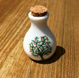 Small Ceramic Ashes Holder Tree Of Life Vial Cremation Funeral Urn Keepsake Container Memorial Jar Photo Jewelry