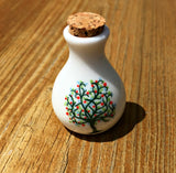 Small Ceramic Ashes Holder Tree Of Life Vial Cremation Funeral Urn Keepsake Container Memorial Jar - Photo Jewelry Making
