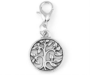 Clip On Tree Of Life Charm w/ Lobster Clasp Photo Jewelry
