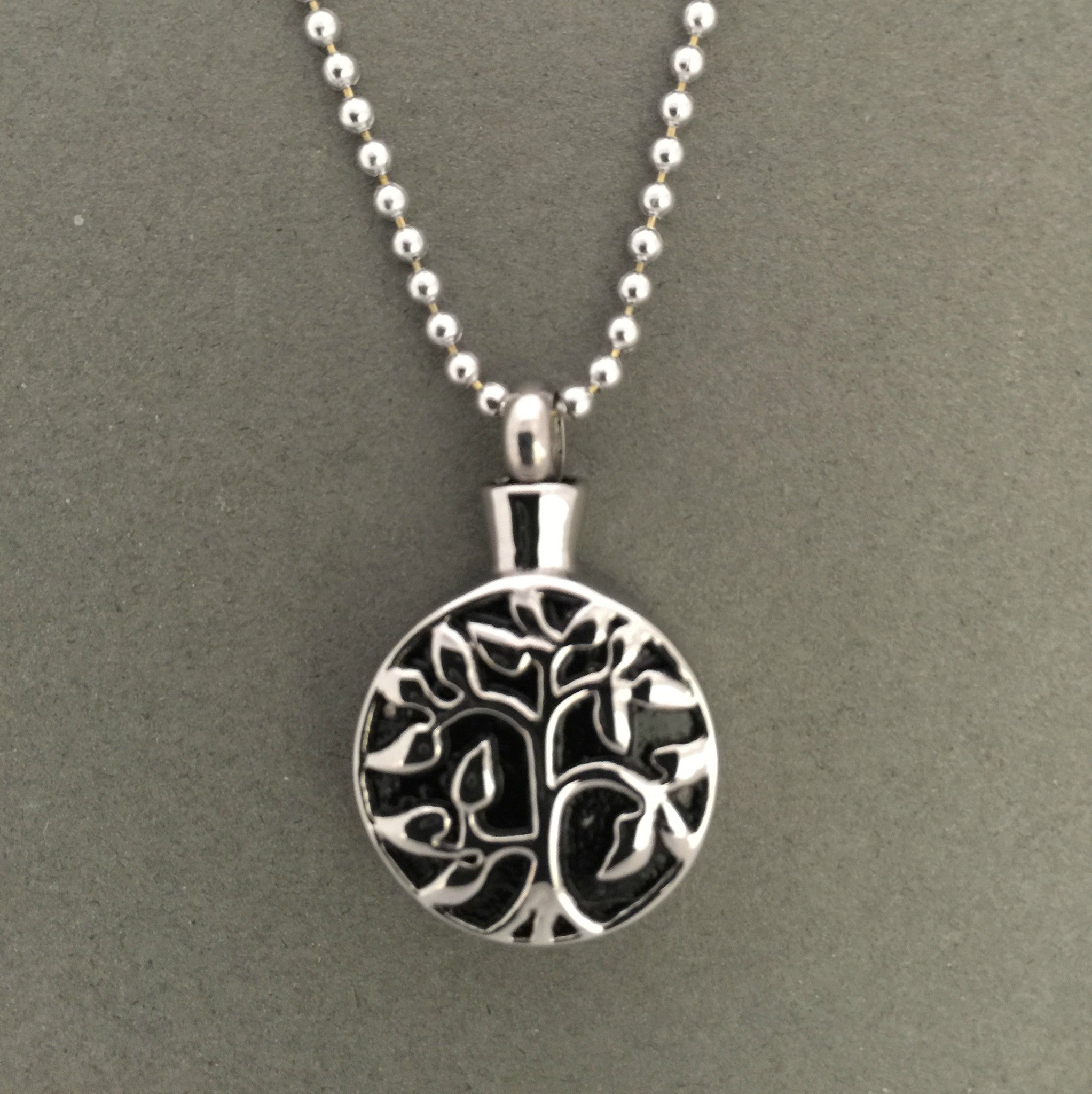 Memorial For Ashes Holder Urn Necklace Tree of Life - Photo Jewelry Making