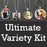 Ultimate Key Chains and Necklaces Variety Pack Kit - Make 40 Pieces! Photo Jewelry