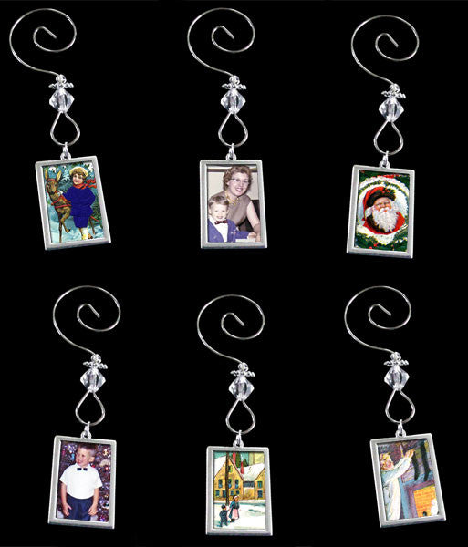 Make Your Own Beaded Photo Christmas Ornaments Kit  Double Sided Photo Jewelry