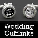 Wedding Photo Cufflinks - Grooms Cuff Links - Father of The Bride - Wedding Jewelry