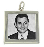 Photo Charm Silver Plated 1 inch double sided 50 pieces - Photo Jewelry Making