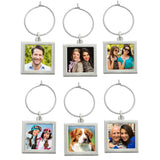 Instant Photo Wine Charms Kit Makes 6 Square Wine Tags