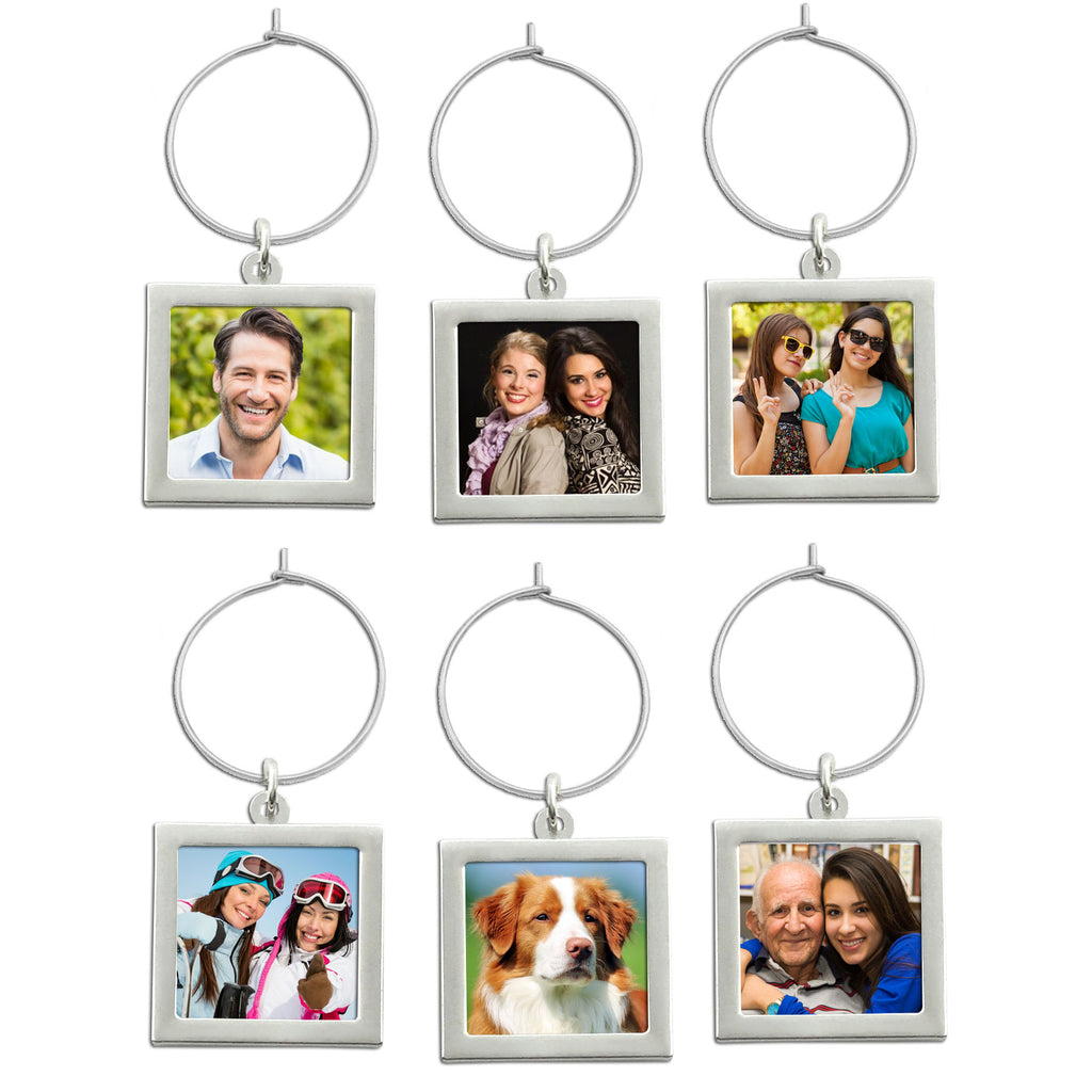Make Your Own Wedding Photo Wine Charms Pack of 36 Squares
