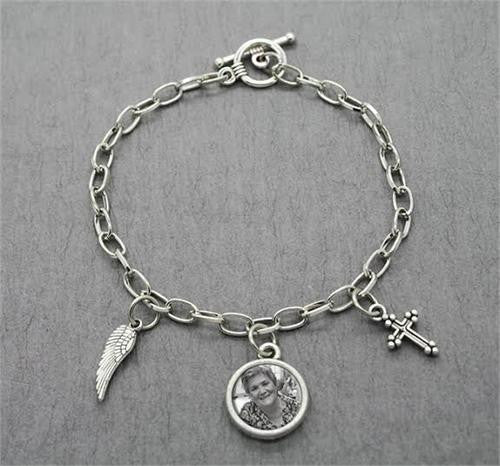 Angel Wing Cross Photo Bracelet Kit - Photo Jewelry Making