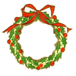 Free Vintage Christmas Wreath Image To Download Photo Jewelry