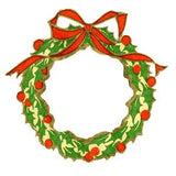 Free Vintage Christmas Wreath Image To Download - Photo Jewelry Making
