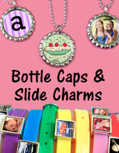 Photo Bottle Caps And Photo Slide Charms