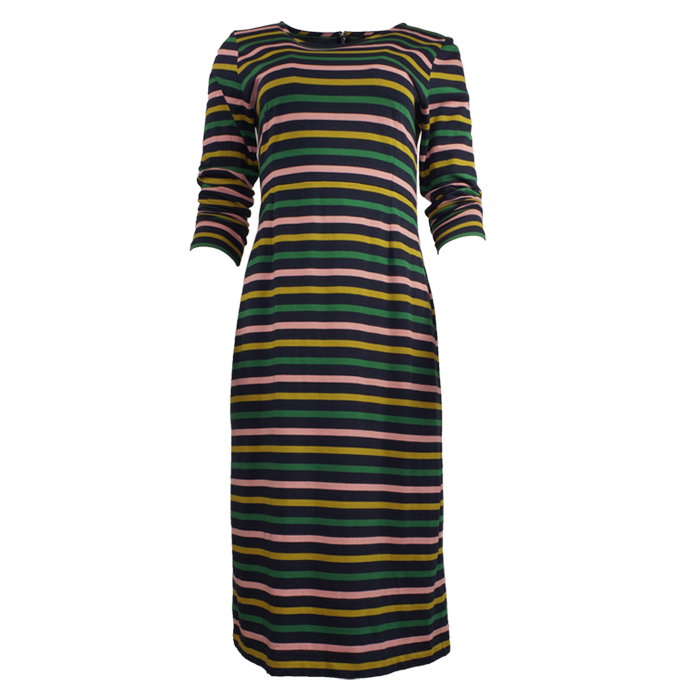 J.Crew Long-sleeved Striped Dress