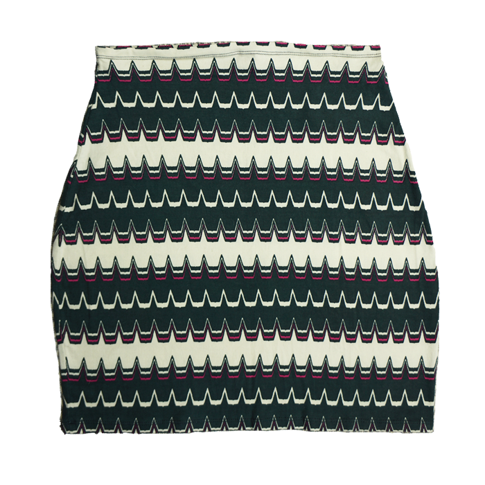 Motel Graphic Stretch Skirt
